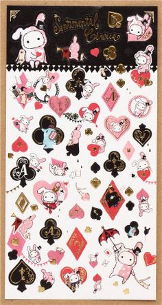 San-X Sentimental Circus stickers heart diamond spades club 2