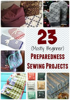 23 (mostly beginner) Preparedness Sewing Projects to hone your sewing skills and get better prepared? Take on one of these (mostly beginner) sewing projects! Easy Sewing Projects, Sewing Projects For Beginners, Sewing Hacks, Sewing Tutorials, Sewing Crafts, Sewing Tips, Sewing Ideas, Sewing Essentials, Diy Projects