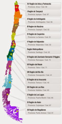 Map of Chile regions Pablo Neruda, Boot Camp, Goodbye Party, Honeymoon Vacations, World Geography, Alphabet, Easter Island, Cruise Tips, Science And Nature