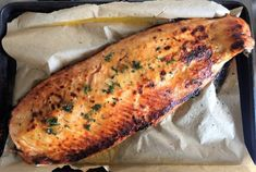Roasted Salmon with Honey Mustard Glaze #salmon #roastsalmon #bakedsalmon #honeymustard #honeymustardsalmon #salmonrecipe