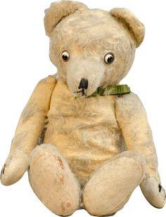 Antique Stuffed Brown Mohair Teddy Bear W/ Googly Movin : Lot 1263