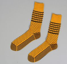 "J.S. Homestead ""Lithuanian"" Socks, Mustard."