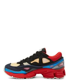 Raf Simons X Adidas Black and Red Ozweego 2 Sneaker - Sneakerboy