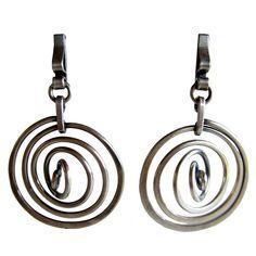 1stdibs   HENRY STEIG Sterling Silver Swirl Earrings