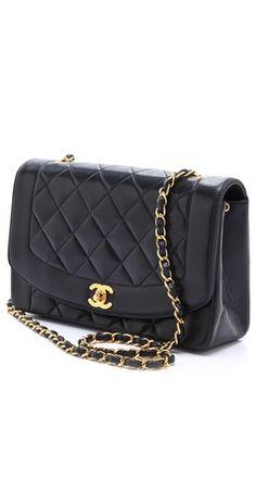 Chanel. Vintage. Quilted Black Leather. Gold Hardware.