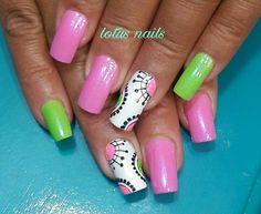 Pretty Pink & Green Design