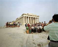 Martin Parr, Small World Greece, Athens, Acropolis, 1991.