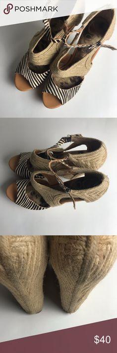31e87a7e95f9 Sam Edelman Wedge Heels Size 9.5 Katie Zebra Cute Sam Edelman wedge heels  size 9 1