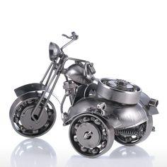 Iron Art Motorcycle Tooarts Home Decoration Handicraft Modern Sculpture Crafts Gift