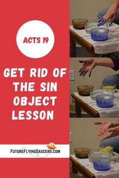 Use chocolate syrup, paint, cracker crumbs, and water for this simple, but powerful, bible object lesson for Acts 19. Sunday School Curriculum, Sunday School Activities, Bible Object Lessons, Bible Lessons For Kids, Acts 19, Bible Teachings, Vacation Bible School, Chocolate Syrup, Kids Church