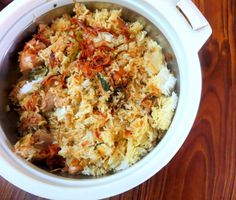 Cooking 4 all Seasons: Chicken Biryani ~ Rice Cooker Style Rice Cooker Recipes, Cooking Recipes, Healthy Recipes, Biryani Chicken, Cooking Bowl, Pampered Chef Recipes, How To Cook Rice, Cereal Recipes, Ethnic Recipes
