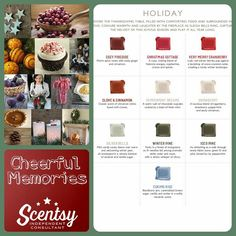 Holiday scents available on September 1, 2015 in the Fall/Winter Catalog! https://soniadeloza.scentsy.us