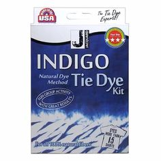 Jacquard's Indigo Tie Dye kit and pre-reduced indigo.  This is the easiest way to start an indigo vat at home. The tie dye kit comes with everything you need to set up a vat for a day of dyeing with friends. For the more advanced dyer, the 8oz packets of pre-reduced indigo crystals provide you with enough dye for several vats with an easier setup than traditional indigo powder.