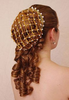 Sophia  - elegant renaissance romantic huge ringlet hairpiece (also suitable for Lolita, victorian or civil war costumes or wedding) - Visit to grab an amazing super hero shirt now on sale!