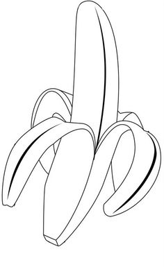 A Delicious Tropical Banana Coloring Page : Kids Play Color Vegetable Coloring Pages, Fruit Coloring Pages, Colouring Pages, Coloring Pages For Kids, Coloring Sheets, Banana Crafts, Toddler Learning Activities, Christmas Templates, Online Coloring