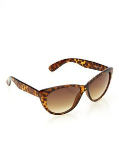 Take a look at this Tortoise Cat-Eye Sunglasses by Steve Madden on #zulily today!