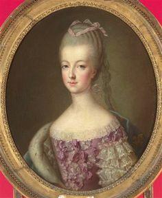 Marie-Antoinette de Lorraine-Habsbourg, archiduchesse d'Autriche, reine de France (1755-1793). Anonyme ; DROUAIS François Hubert (d'après),  3e quart 18e siècle