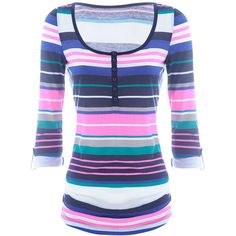 TALLY WEiJL: Colorful blouse ($33) ❤ liked on Polyvore