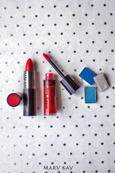 Show your USA pride with red, white, and blue. | Mary Kay http://www.marykay.com/lisabarber68  Call or text 386-303-2400