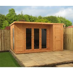 **PRE ORDER IN MANUFACTURE DUE W/C 20TH JUNE** 12ft x 8ft Contempory Gardenroom Large Combi (12mm T&G Floor & Roof)