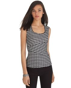White House | Black Market Sleeveless Jacquard Shell Top #whbm - would look cool under a cardigan