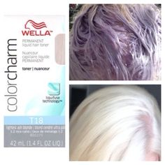 right after doing my root touch i used wella t18 to tone down the brassiness... i used 1 oz wella t18 and 2 oz 20 volume creme developer and left on for only 8 mins! hope this helps anyone going blonde! :)