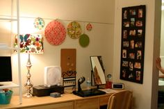 I like all the little things. The pictures and lamp and mirror and pin board and jewelry holder.
