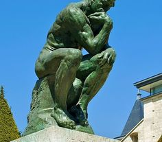 The Thinker (Le Penseur in French) is a bronze sculpture on marble pedestal by Auguste Rodin, whose first cast, of is now in the Musée Rodin in Paris; there are about 28 original castings . Auguste Rodin, Musée Rodin, Thinking Skills, Critical Thinking, Bronze Sculpture, Lion Sculpture, Global Warming Climate Change, Famous Words, Famous Art