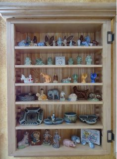 wade figurines wall cabinet that could be my house