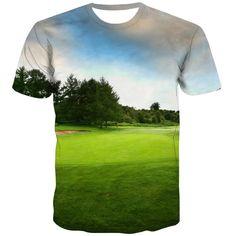 Golf T Shirts, 3d T Shirts, T Shirt Printer, City Streets, Exterior Colors, Fashion Prints, Cool Stuff, Funny, Fabric