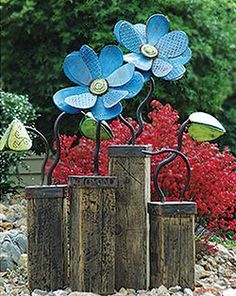 flower garden sculpture more metals sculpture metal sculptures gardens ...