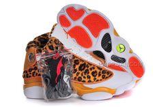 detailed look 01fa9 b02d7 Michael Ladies Jordan 13 GS Shoes with Features Cheetah Print Kh. Nike Air  ...