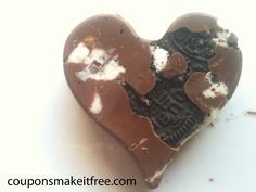 So easy and quick I could even do it :) Super Easy Valentines Treats! Heart Shaped Chocolate Covered Oreos!