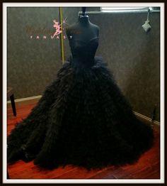 Extravagant Tulle Black Wedding Dress by WeddingDressFantasy http://www.weddingdressfantasy.com