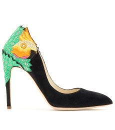 Rupert Sanderson - BIRDIE SUEDE PUMPS WITH COCKATOO APPLIQUÉ  - mytheresa.com GmbH