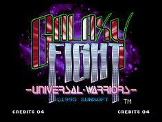 Galaxy Fight: Universal Warriors Neo Geo Title screen