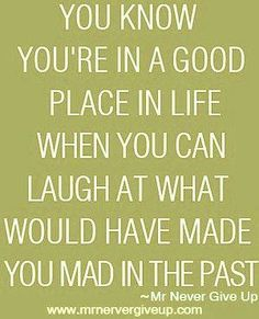 in a good place....