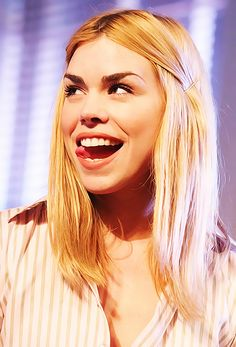 Billie Piper ❤ as much as I love her, I always wonder why she does that thing with her tounge.