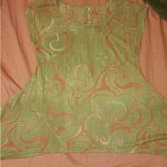 1 Really thin Tan with peach color blouse.  NWOT You get 1 Tan and peach color blouse. wide on the bottom. Have this in sizes small,medium,Large Just let me know what size you need. NWOT NWOT NWOT NWOT NWOT NWOT NWOT Tops Blouses