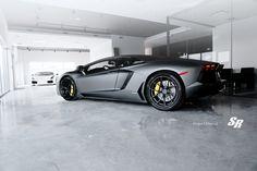Matte Black Lamborghini Aventador LP700 2