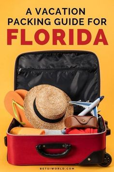 Your Florida Vacation Packing Guide and Packing Tips | Are you heading off to a vacation in Florida? This Florida Vacation Packing List has everything you need to take on your tropical vacation! You will find all of the best essentials for packing on this list! These are the best travel packing hacks for your family vacation, couples travel, and solo travel. For more travel hacks, bucket list ideas, and more read BETSIWORLD.COM #travelhack #vacation #packing #pack #travel #packingtips Visit Florida, Florida Vacation, Florida Travel, Vacation Trips, Beach Vacations, Family Vacations, Orlando Vacation, Vacation Packages, Packing Tips For Vacation