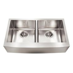 Kindred KCFD36B/9-10BG Designer Series 36-in Double Bow Apron Front Farmhouse Sink | Lowe's Canada