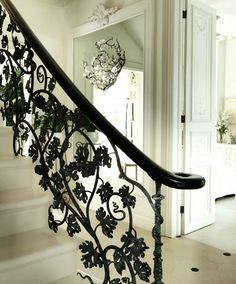 grapevine wrought iron bannister in 'the white house' by sera hersham loftus (sera of london)