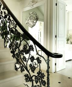 grapevine wrought iron bannister in 'the white house' by sera hersham loftus (sera of london)