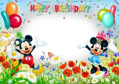Photo effect from category: Birthday. An inscription on the frame: Happy Birthday! Happy Birthday Wishes Girl, Happy Birthday Mickey Mouse, Minnie Mouse Birthday Decorations, Happy Birthday Frame, Happy Birthday Wallpaper, Happy Birthday Video, Happy Birthday Photos, Birthday Frames, Happy Birthday Cards
