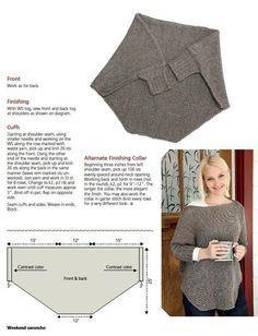 Fácil de fazer,este tricô vai agasalhar no campo ou na cidade! Muito versátil e elegante
