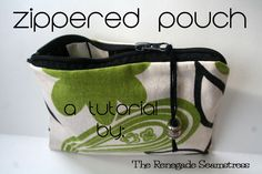 Easy Zippered Pouch Tutorial | The Renegade Seamstress