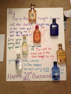 21st birthday poster.