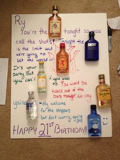 21st birthday poster.