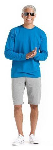 Men s Long-Sleeve Cotton Bamboo T shirt - Coolibar  Sun Protection  Versatile long 656b77eb43dc9